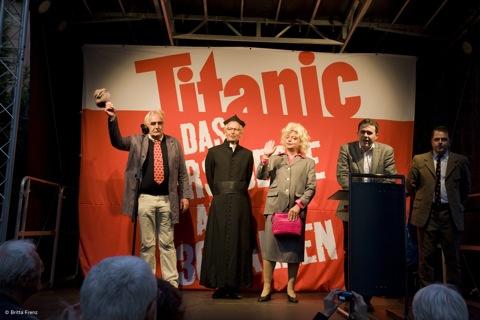 Knorr, Eilert, Zippert, Fischer, Schmitt - 30 Jahre Titanic, Caricatura Ffm 3. Okt 09 © Foto Britta Frenz