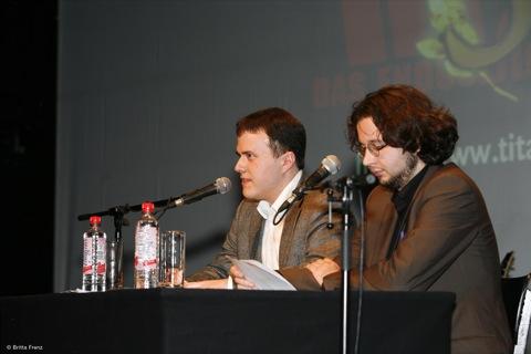 Leo Fischer und Michael Ziegelwagner live: 30 J Titanic Staatsakt Mousonturm Ffm 091004